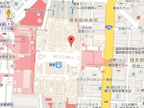 アグ直営店福岡博多の地図