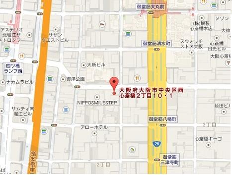アグオーストラリア大阪直営店地図