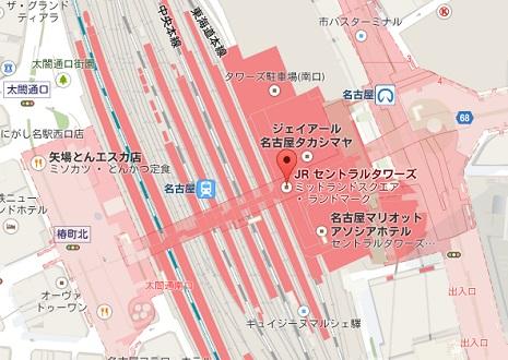 アグ名古屋直営店地図