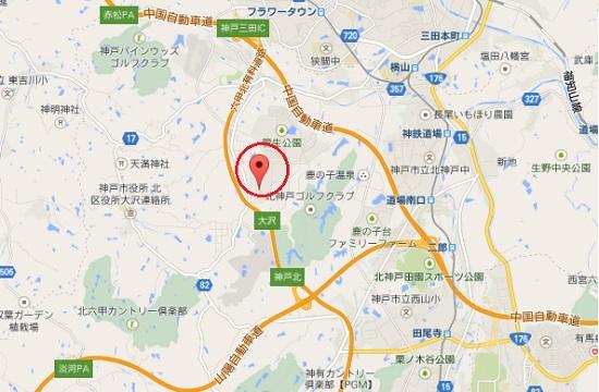 UGG神戸のアウトレット地図